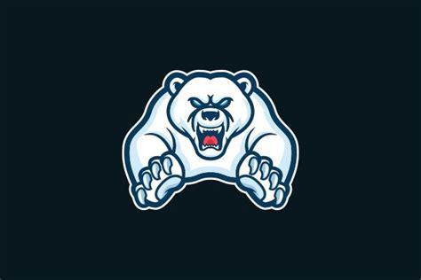 exclusive logo  polar bear mascot logo art polar
