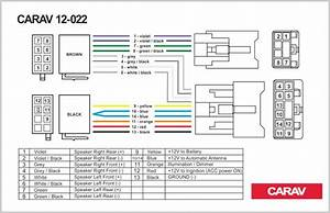 2019 Carav 12 022 Iso Radio Plug For Toyota Lexus Daihatsu