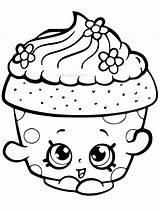 Coloring Cupcake Shopkins Shopkin Clipart Petal Pinclipart Transparent sketch template