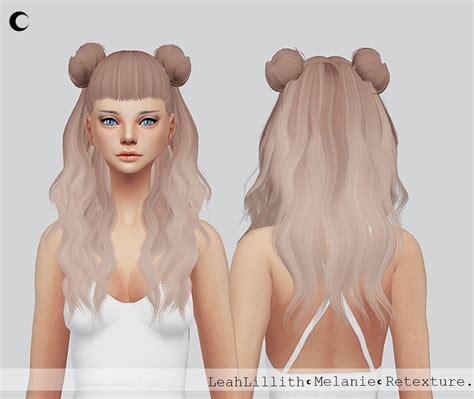 sims  hairs kalewa  leahlilliths melanie hair retextured