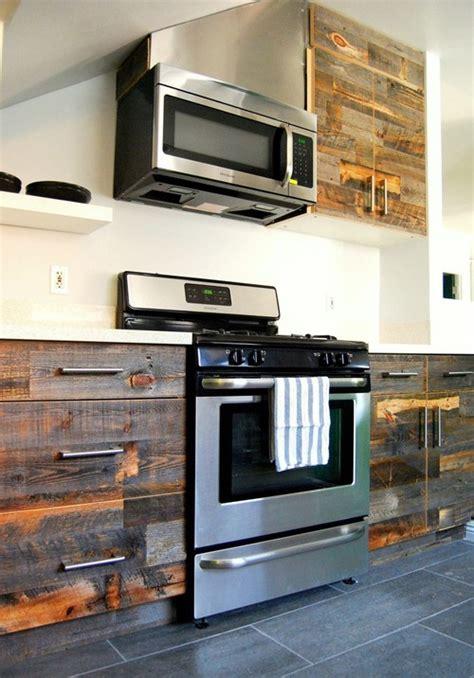 amazing diy stikwood finished kitchen cabinets headboard
