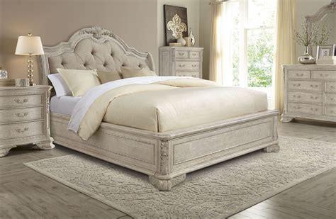 upholstered bedroom set renaissance dove grey sleigh upholstered bedroom set from