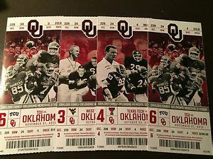 49+ Ou Football Tickets  Pictures