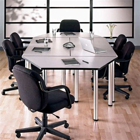 13612 business meeting table bush business aspen octagon conference table white