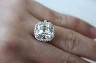 1 5 carat engagement ring of the week jaw dropping 5 carat quot august vintage quot cushion ring pricescope