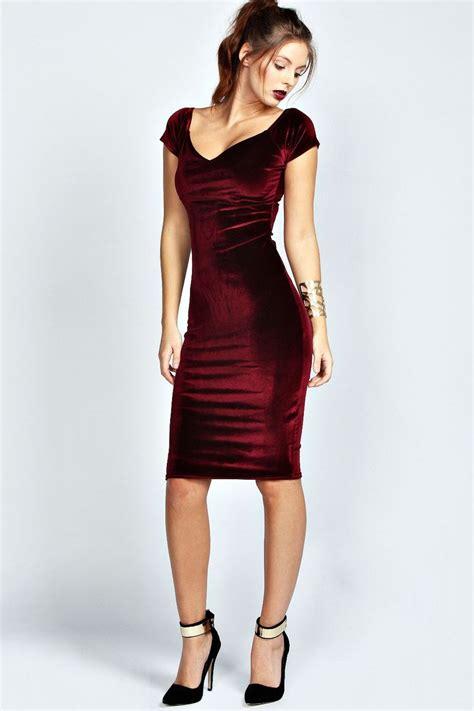 17 best ideas about Velvet Dresses on Pinterest | Red velvet dress Pink velvet dress and Party ...