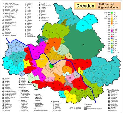 Stadtteile Dresden Karte