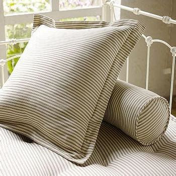 ticking black  white stripe duvet