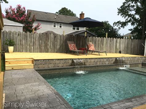 backyard makeover with pool backyard makeover 1 year later simply swider