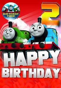 THOMAS THE TANK ENGINE 2 HAPPY BIRTHDAY 2ND BIRTHDAY CARD ...