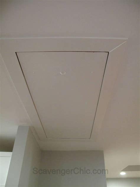 hiding  cord   pull  attic stair access attic