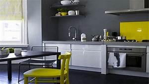 deco pour cuisine grise exemples d39amenagements With d co pour cuisine grise