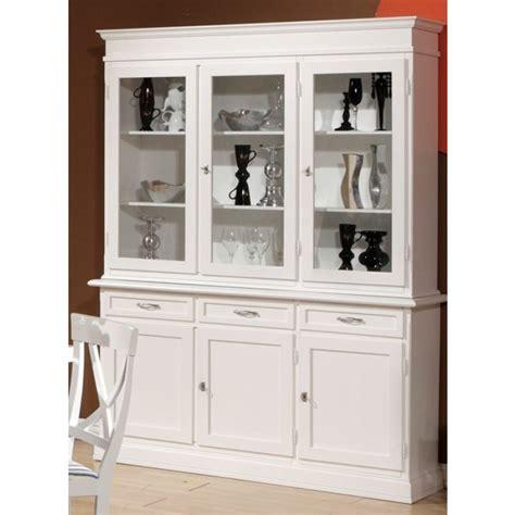 canapé cuir duvivier vaisselier trois portes trois tiroirs laqué blanc 1831