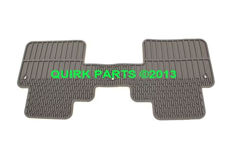 Chevy Traverse Floor Mats 2013 by 2012 2014 Chevrolet Traverse 3rd 2nd Row Rubber Floor