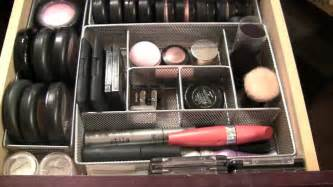 How To Organize Dresser by Inside My Make Up Drawers And Organizing Tips Youtube