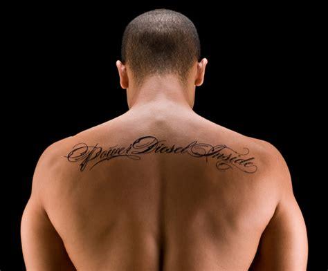 Tatouage Dos Homme Ecriture
