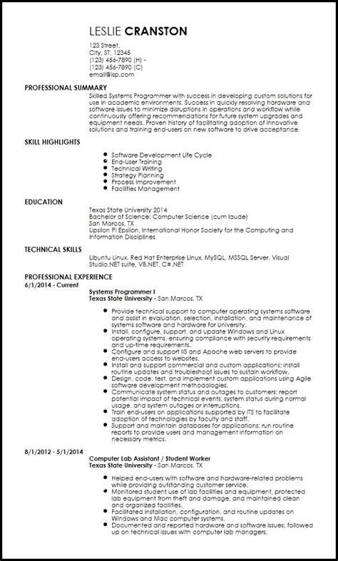 inspiring resume template computer science ideas