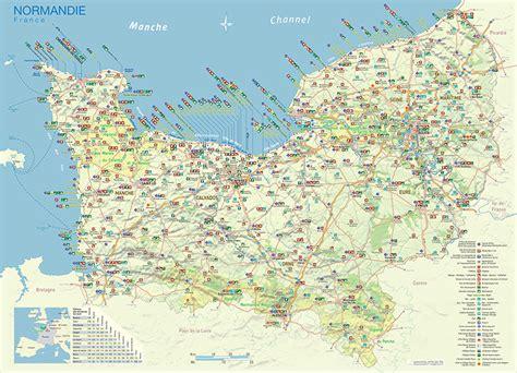 Carte De Normandie Detaillee by Karten Der Normandie Normandie Urlaub Frankreich