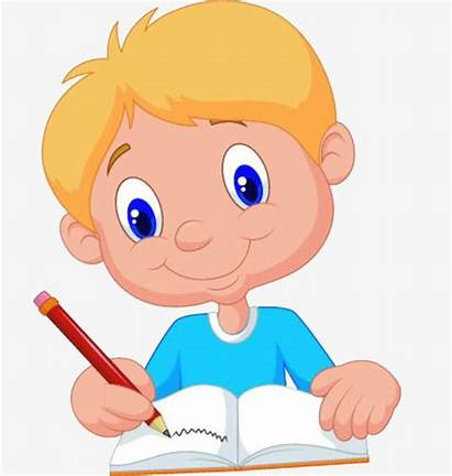Writing Clipart Class Boy Student Students Clip