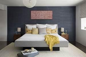 Deco Avec Du Gris : d coration chambre avec murs gris fonc s ~ Zukunftsfamilie.com Idées de Décoration