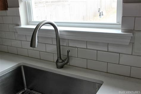 how to tile a kitchen backsplash duo ventures kitchen update paint touch ups window sill