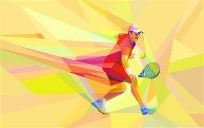 Descargar fondos de pantalla tenis 4k el arte abstracto