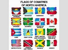 Bandeiras De Países De America Do Norte Ilustração do