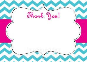 Thank You Card Templates Printable Free