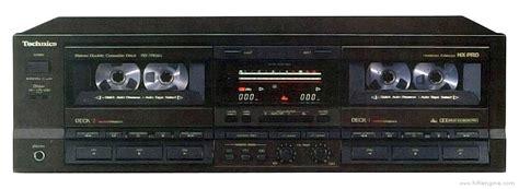 Technics Rstr555  Manual  Double Cassette Deck Hifi