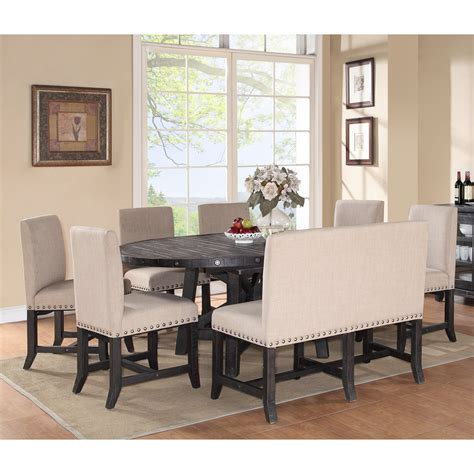 Dining Room Table With Settee by Oval Dining Room Table Sets Traditional Glass Dining