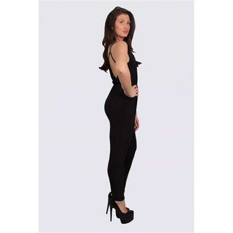 black fitted jumpsuit gabby black fitted jumpsuit parisia fashion