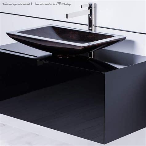 Black Modern Bathroom Sinks by 40 Inch Black Bathroom Vanity With Rectangular Vessel Sink
