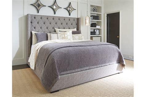 3162 grey upholstered king bed sorinella upholstered bed furniture homestore