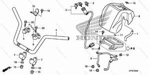 Honda Atv 2009 Oem Parts Diagram For Handlebar