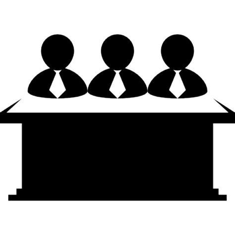 icone pour bureau hommes d 39 affaires équipe derrière un ordinateur de bureau