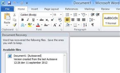 ways  recover deletedunsaved word documents easily