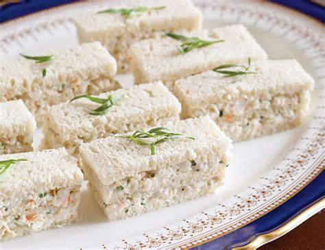 finger sandwiches tarragon shrimp salad finger sandwiches