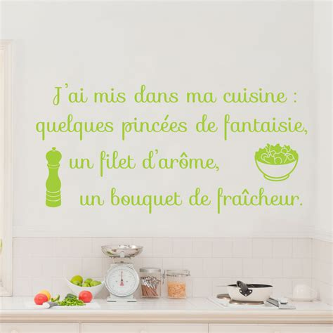stickers citations cuisine sticker citation j 39 ai mis dans ma cuisine stickers