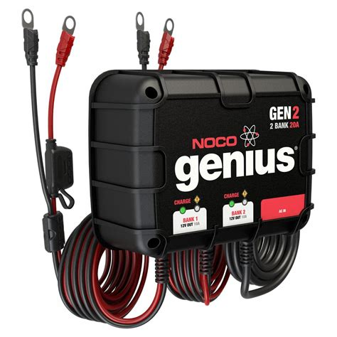 Marine Battery Charger Overcharging by Noco 2 Bank 20a On Board Battery Charger Gen2