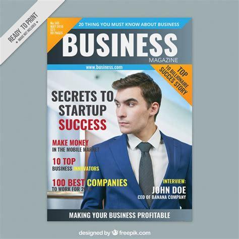 mag de gratis portada de revista de negocios con un emprendedor descargar vectores gratis