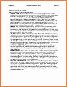 7 purchase order terms and conditions template uk With standard terms and conditions template free