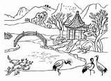 River Coloring Pages Priroda Nature sketch template