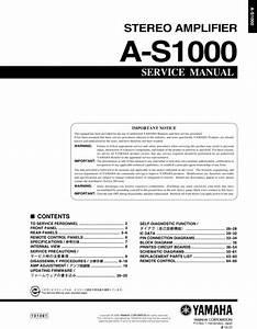 Yamaha As-1000 Amplifier  Original Service Manual