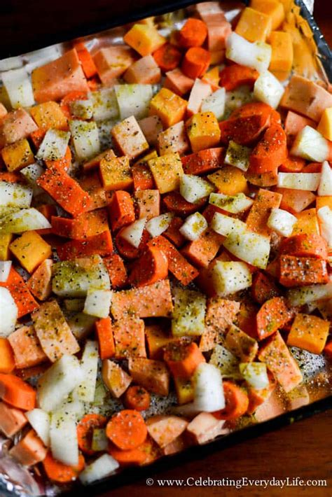 Roasted Root Vegetables  Fall Recipe Celebrating