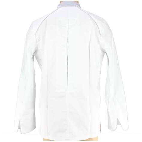 veste de cuisine homme veste de cuisine homme manches longues blanche et liseré gris
