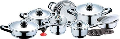 hermann miller  piece  stainless steel cookware set triply copper bonded  cookware