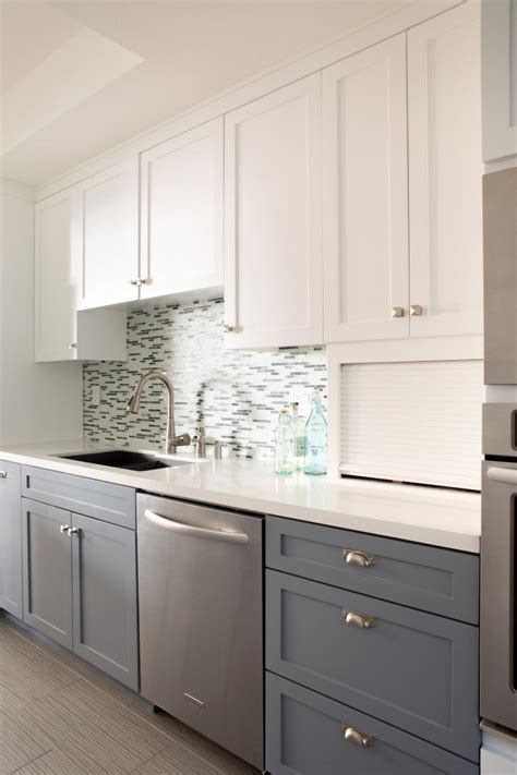 kitchen lower cabinets white u shaped two toned cabinets in kitchen with black and 9319