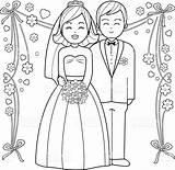 Bride Groom Coloring Printable Getcolorings Getdrawings sketch template