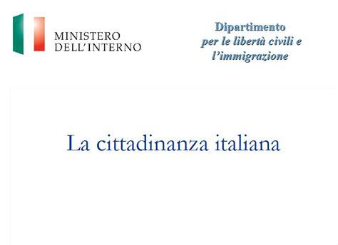 Www Ministero Dell Interno It Cittadinanza Cittadinanza Italiana On Line La Guida Aggiornata