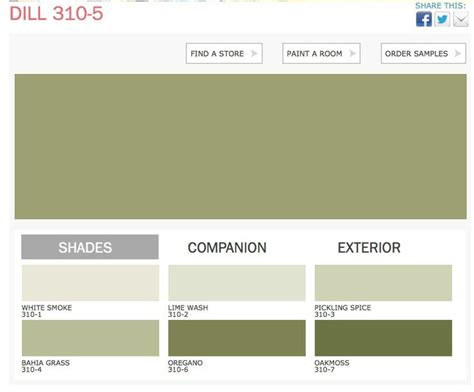 dill color ppg paints home